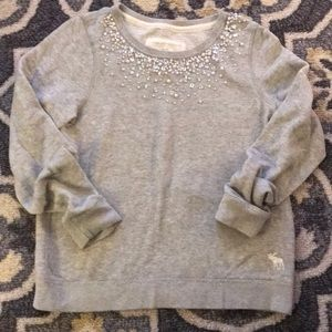 Abercrombie and Fitch Embellished Crewneck